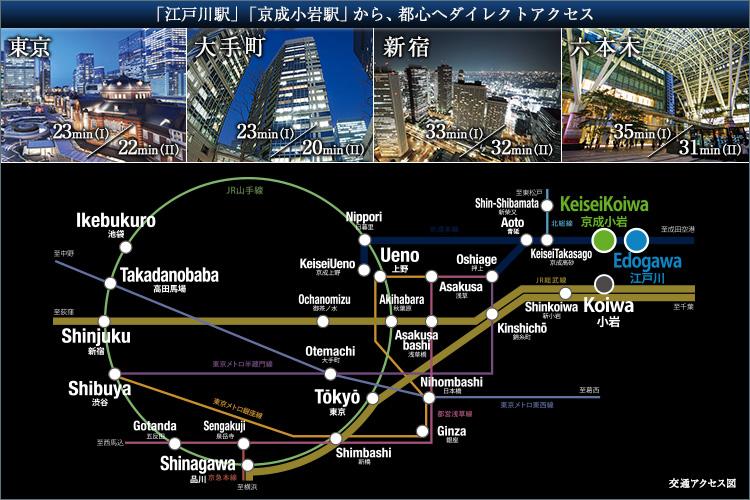 ■大手町20分/東京22分ほか、都心を身近に愉しむ。