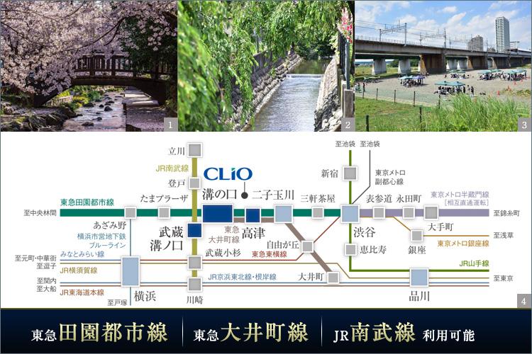 ■東急線とJR線の両翼で、東京・横浜を自在に羽ばたく日常。