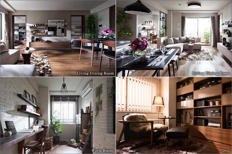 洗練された美しい空間が、上質な邸宅時間を物語る。
