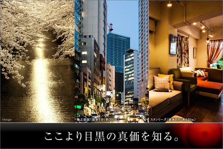 代官山や白金台、中目黒、恵比寿・・・人気の東京サウスウェスト地域を一望し、我が庭とする【目黒ポジション】。