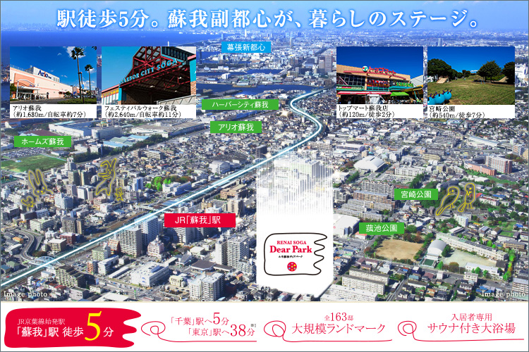 ■「東京駅」直通、おやすみの日が待ち遠しくなる「ルネ蘇我ディアパーク」