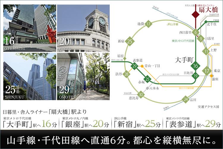 ■東京9km圏。都内を自由自在に。