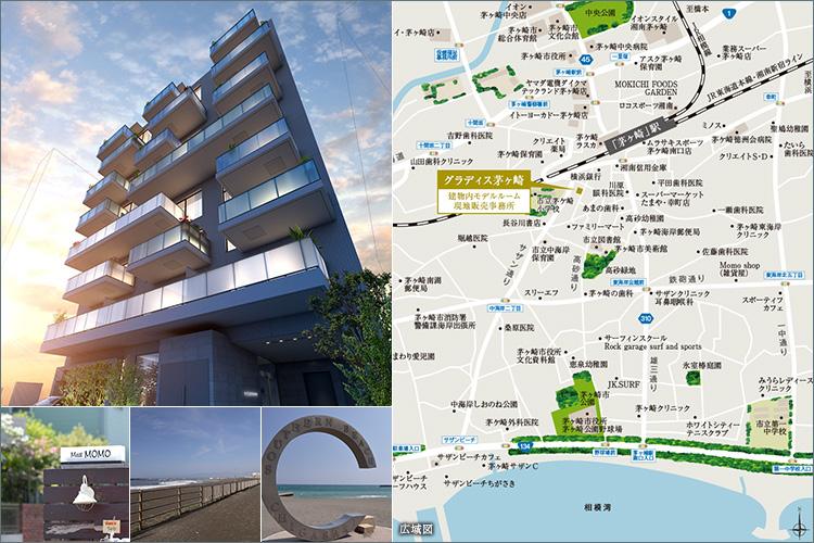 「茅ヶ崎」駅海側へ歩いて3分(約230m)。