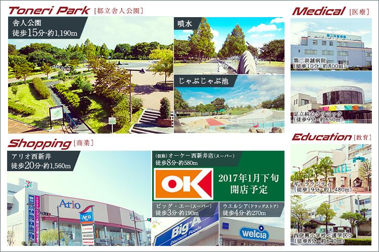 ■休日の予定もアクティブになる、広大な公園が間近に。