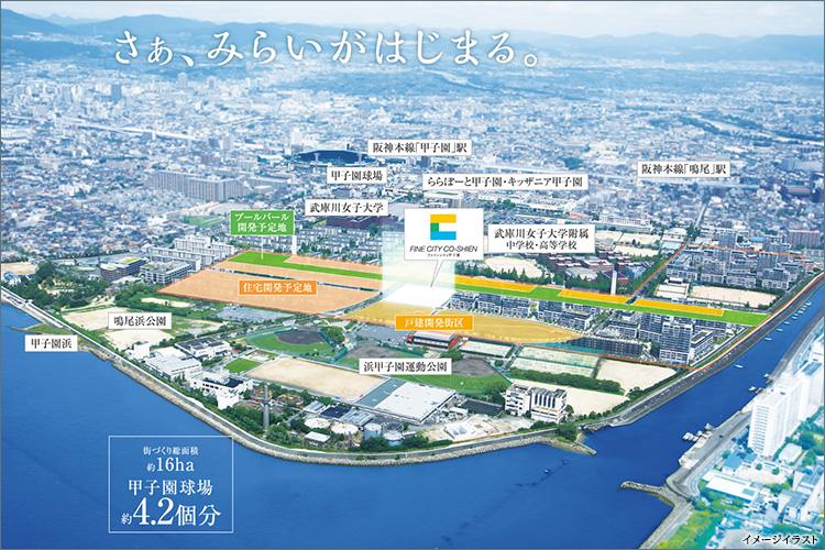 神戸、大阪都心へスムーズアクセス