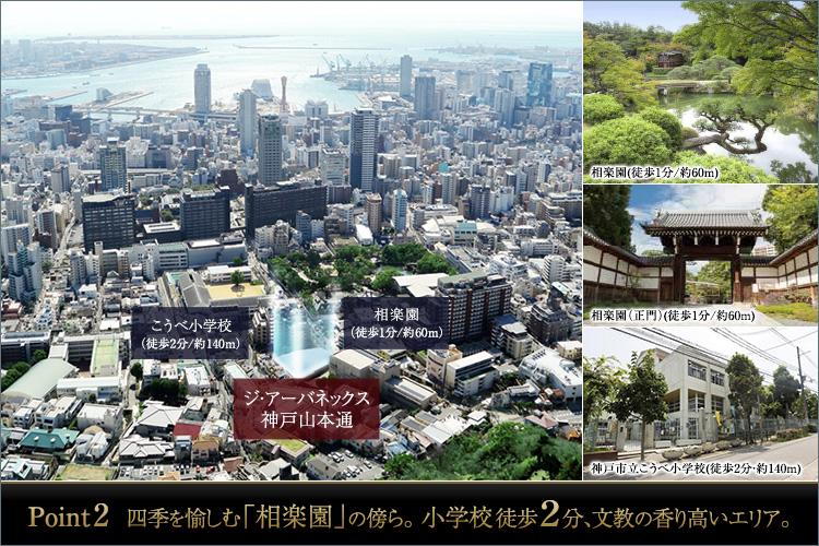 神戸都心、「三ノ宮」「神戸」「北野」の街を間近にしながら、