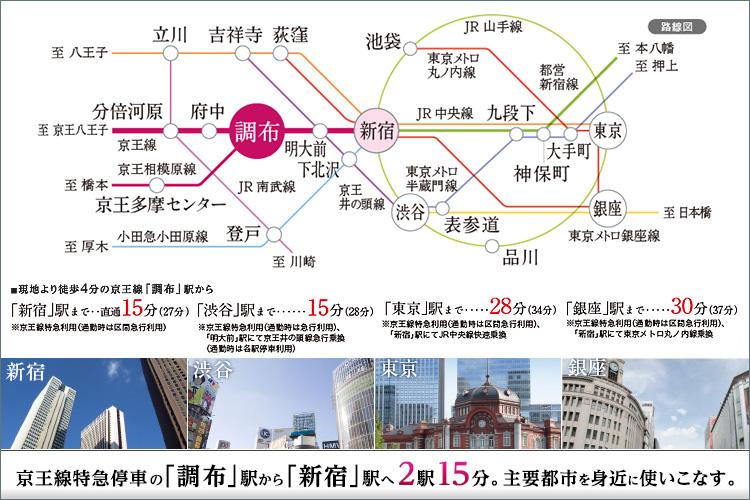 ■「新宿」駅へ2駅15分