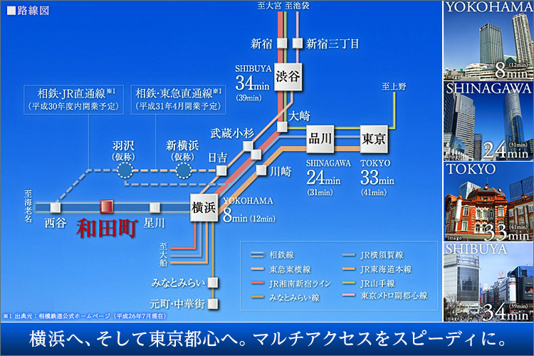 ■横浜や東京都心へも自由にアクセスする