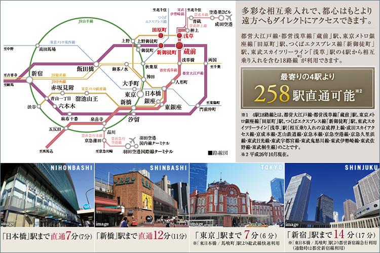 ■4駅5路線(※3)の利用で叶う、都心を自在に愉しむ軽快アクセス。