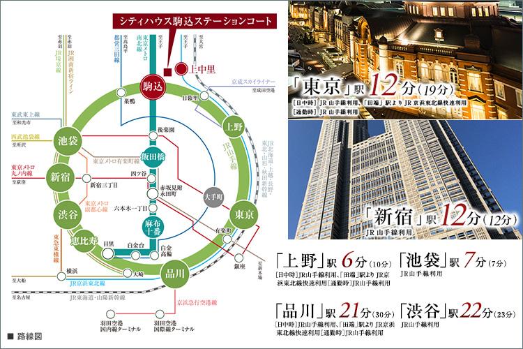 ■都心主要駅へダイレクトアクセス