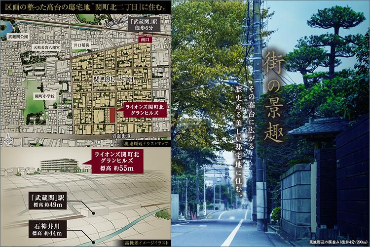 区画の整った高台の邸宅地「関町二丁目」に住む