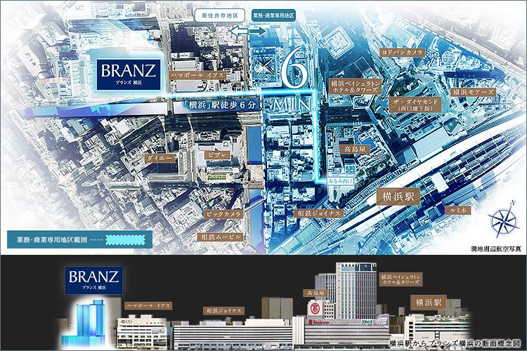 JR「横浜」駅西口徒歩6分、初の大規模レジデンスという価値。