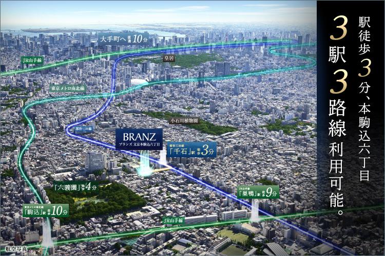3駅3路線利用可能で、東京を自在に。