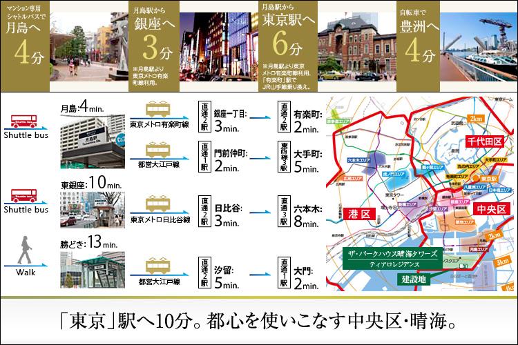 ■「東京」駅まで10分という近さへの歓び。晴海通りを軸に生まれる、華々しい都心生活。