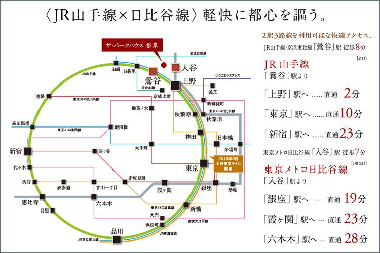 《「JR山手線x日比谷線」軽快に都心を謳う。》