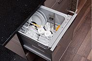 忙しい毎日の家事をサポートするビルトイン食器洗い乾燥機を標準装備。ビルトインなので邪魔にならず時間と水や洗剤を節約できるうれしい設備です。
