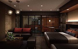 シンガポールのリゾートホテルをモチーフに、限りない贅を尽くした「ゲストルーム」。備えにこだわるのはもちろん、設備一つひとつを厳選セレクトすることで、居室さながらの居住性までをも実現しました。
