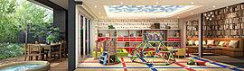 お子さまが雨の日でも伸び伸び遊ぶことができる「キッズルーム」。