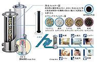 メーターボックス部分に浄活水装置を取り付け、家庭内で使うすべての水を美味しくて安全な水にするシステムです※カートリッジ交換が必要(有料)※2