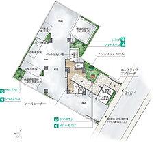 開放感と空間美を追求した全邸、南東・南西向き角住戸の私邸。