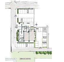 平面駐車場100% 都心の立地でありながら、住む人の利便性を考えて全戸分を確保。日々の暮らしに密着した設備だからこそ、その重要性は軽視できません。