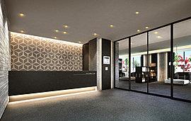 壁面アートのあるスタイリッシュなアーバンデザイン。ホテルライクな空間が来訪者を気品高くお迎えします。