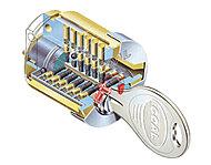 不正に解除することが構造的に困難な、ハイセキュリティシリンダーキーを採用しています。