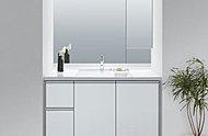 人造大理石カウンタートップのビルトイン式洗面化粧台。※メーカー提供写真