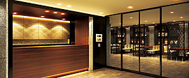 メインエントランスから建物内へ一歩足を踏み入れると、ホテルライクな「コンシェルジュカウンター」がお出迎え。エレガントな設えときめ細やかなサービスで、毎日が一層の快適さとよろこびに包まれることでしょう。