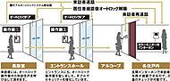 来訪者を住戸内のカラーモニターで確認してからエントランスドアを開錠できるオートロックシステムを採用。