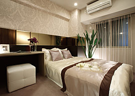 満ちる空気感にまで細やかに配慮した、やすらぎのプライベートルーム。