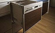 食器洗い乾燥機を標準装備して家事を応援。手洗いよりも少ない水で、たくさんの食器を一度にしっかり洗えます。
