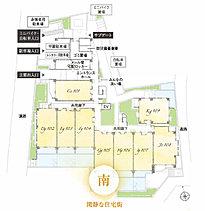 南向き3LDK住戸中心。独立性を高めた配棟計画。※南向き住戸は販売住戸50戸に対して35戸