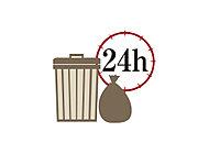 ごみ収集日や時間に関わらず、24時間いつでもごみ出しが可能。※粗大ゴミを除く。