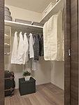 衣類をたっぷり収納できて出し入れも簡単なウォークインクローゼットを全タイプに設置。
