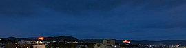 千年余り受け継がれてきた五山送り火も、スカイテラスから眺めることができます。※1