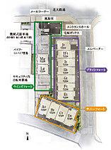 3方道路の開放感と総戸数83戸の規模の両立