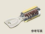 複製がほとんど不可能で、ピッキング対策にも有効な高性能シリンダー錠。
