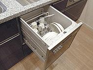 家事の負担を軽減し、忙しい都心の生活をサポートする食器洗浄乾燥機を標準装備しました。