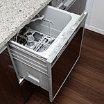 場所をとらずに家事効率を上げる、ビルトイン式の食器洗浄乾燥機を全邸標準装備しています。※1LDK除く