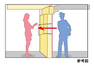 オートロックの内側から郵使物を受け取ることができるメールポックス。面倒なドアの出入りが不要です。