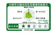 第三者機関によって建築物の環境性能を総合的に評価する川崎市建築物環境配慮制度に基づき、「CASBEE川崎」による評価です。