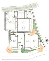 地上5階建て、全28戸中、南向き(18戸)、角住戸(18戸)をプラン。開放的な暮らしを象徴する明るいレイアウトやプライバシー性に配慮した独立性の高い住まいづくりを目指しました。