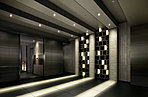 「亀沢」の町並みを意識した「グリッド」をコンセプトにしたエントランスホール