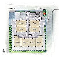 伸びやかさと開放感にあふれた全32邸。ゆとりとともにある日々を堪能するために3棟で構成されたディアナコート浜田山には32戸のゆったりとした居住空間があります。その全てが天井高約2.68m※という伸びやかなスペース※居室の基準天井高となります