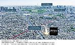 [ 計画地周辺航空写真 ] ※計画地周辺の航空写真(平成28年3月撮影)に一部CG加工を施したもので実際とは多少異なります。