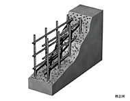 主要構造部にあたる壁はダブル配筋とし、シングル配筋よりも高い強度と耐久性を実現しています。