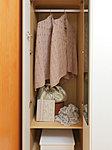 居室には部屋の整理・整頓に役立つクローゼットを設置。