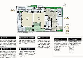 """高い独立性とプライバシー性を重視したきめ細やかな共用部のプランニング。1階は2邸、2・3階は各3邸、4・5階は各2邸、6階は1邸のみとし、高い独立性とプライバシー性を確保。各住戸率は80%以上で""""個""""の空間の快適性にこだわりぬいた13の銘邸"""