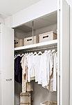 洋室・フリールームには、洋服や小物などをたっぷり収納できるクロゼットを設置。※一部タイプ除く。